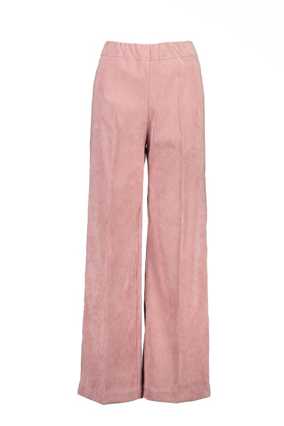 Sea Me Happy wide rib gypsy pants old rose. Made in Belgium