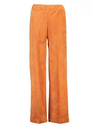 Sea Me Happy wide rib coton gypsy pants orange. Made in Belgium.