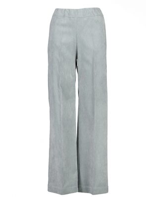 Sea Me Happy wide rib gypsy pants silver grey. Made in Belgium.