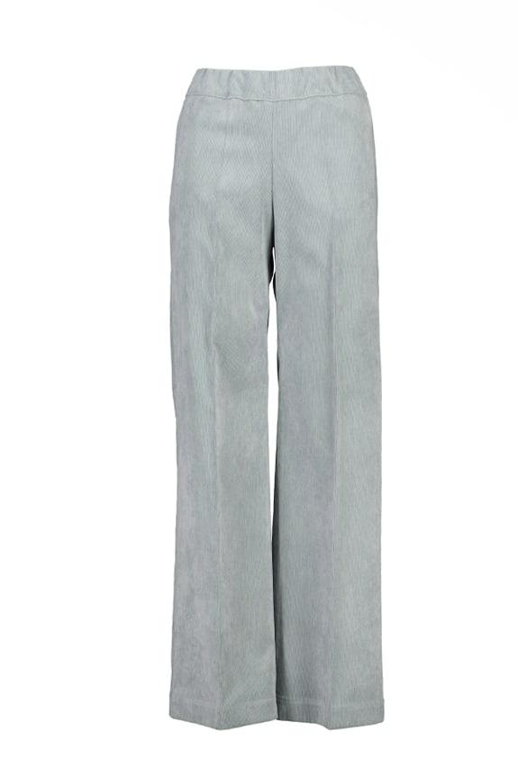 Sea Me Happy wide rib gypsy pants silver grey. Made in Belgium.