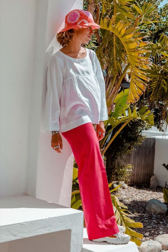 SeaMeHappy gypsy pants red