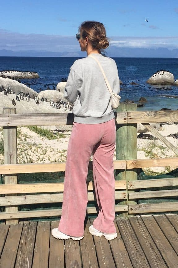 SeaMeHappy gypsy pants rose-GPP001 south africa pinguins
