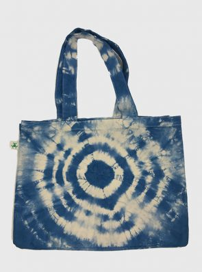 Sea Me Happy Beach Bag 24 tie dye blue