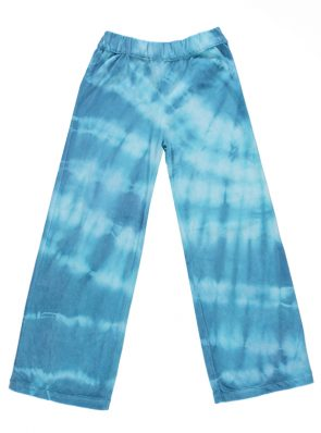 Sea Me Happy Aloha pants blue. Hand dyed in Belgium.