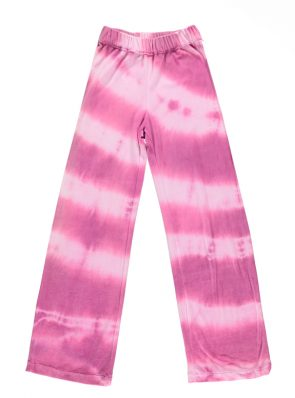Sea Me Happy soft velours Aloha pants violet. Hand dyed in Belgium.