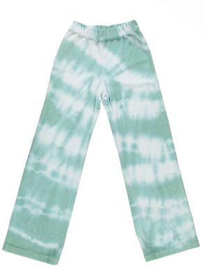 Sea Me Happy soft velours Aloha pants lagoon blue. Hand dyed in Belgium.