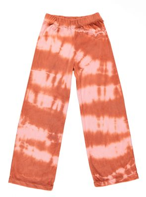 Sea Me Happy soft velours Aloha pants terracotta rose. Hand dyed in Belgium.
