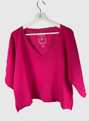 Sea Me Happy Bali Top Fuchsia