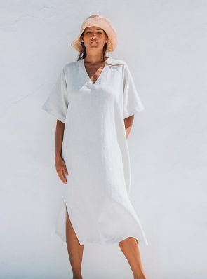 Sea Me Happy Tipi Dress white
