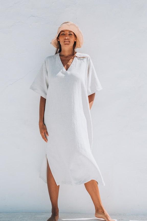 Sea Me Happy Tipi Dress white