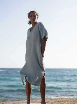 Sea Me Happy Bali Dress greygreen