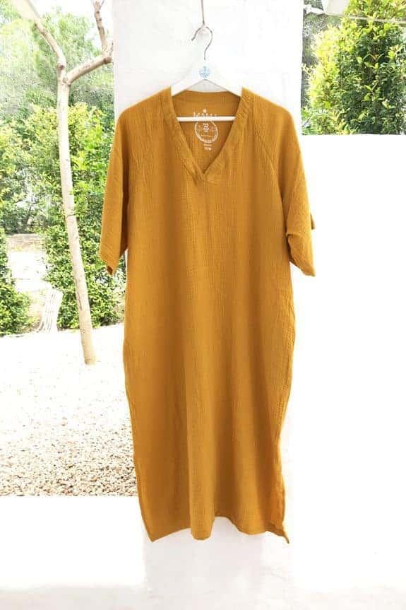 SeaMeHappy-Bali-dress-ochre-yellow-ibiza