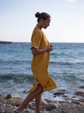 SeaMeHappy-Bali-dress-ochre-ibiza