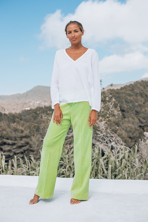 Sea Me Happy Gypsy Pants Green