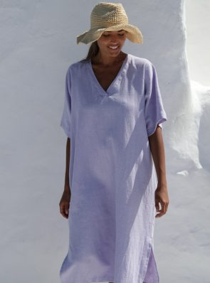 Sea Me Happy Tipi Dress 100% linen