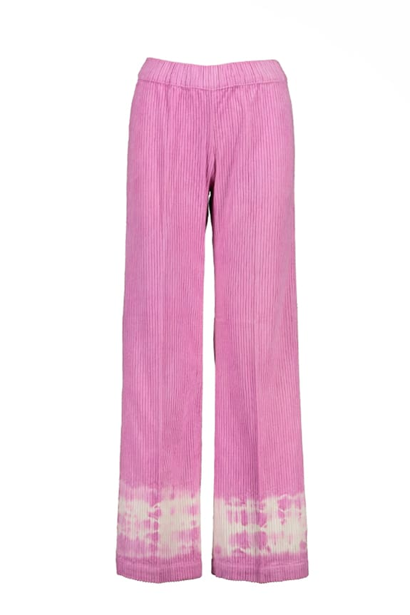 Sea Me Happy wide rib gypsy pants fuchsia. Hand dyed in Belgium.