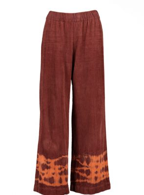Sea Me Happy wide rib gypsy pants mandarin oriental. Hand dyed in Belgium.