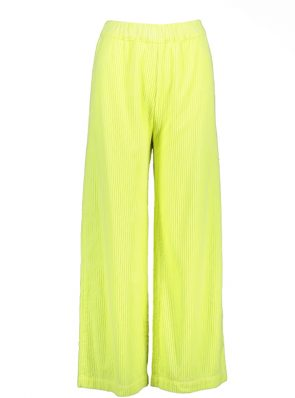 Sea Me Happy wide rib gypsy pants fluo yellow. Hand dyed in Belgium.