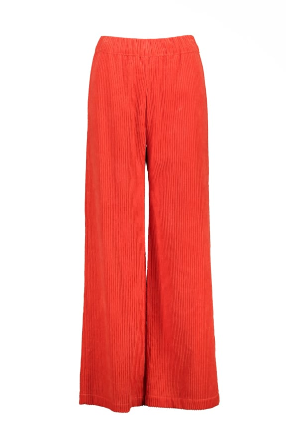 Sea Me Happy wide rib gypsy pants orange. Made in Belgium