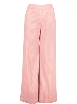 Sea Me Happy wide rib gypsy pants rose. Made in Belgium