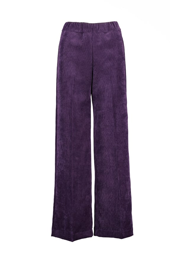 Sea Me Happy wide rib coton gypsy pants groovy purple Made in Belgium