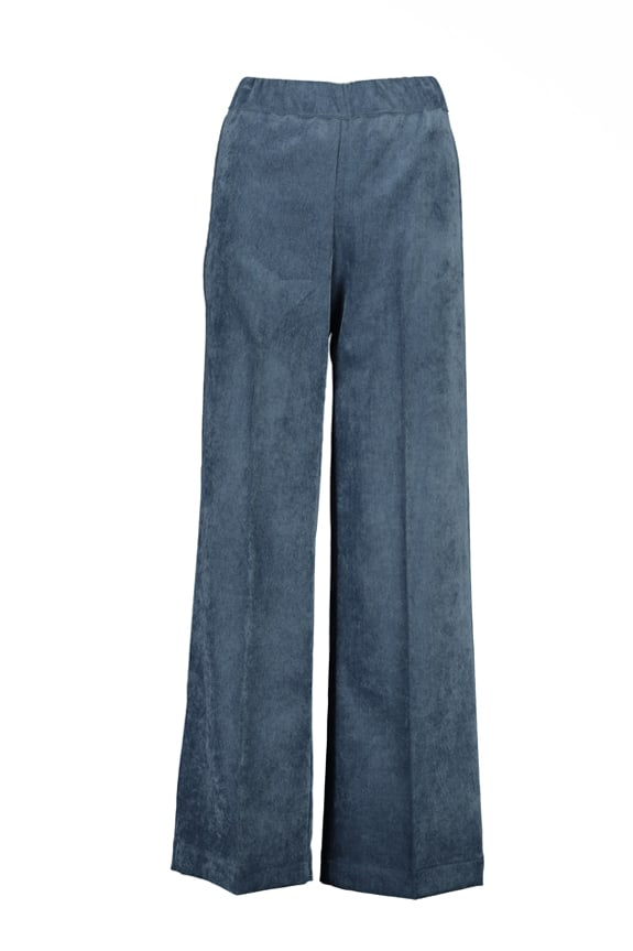 Sea Me Happy wide rib coton gypsy pants jeans blue Made in Belgium