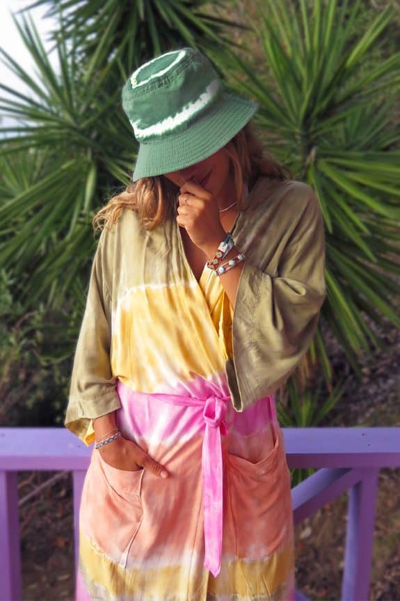 Sea-Me-Happy-tiedye-bucket-hat-SFEER-green-Kimono-multicolour