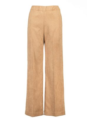 Sea Me Happy wide rib gypsy pants camel. Made in Belgium