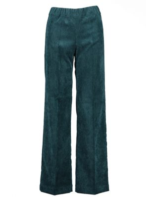 Sea Me Happy wide rib coton gypsy pants pine green. Made in Belgium.