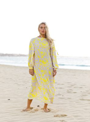 Sea Me Happy Noosa Dress. 2 styles: reversible. Open when worn to the front. High boatneck when worn to the back