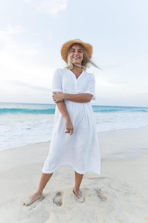 Sea Me Happy Byron Dress white, made in Belgium, 100% cotton