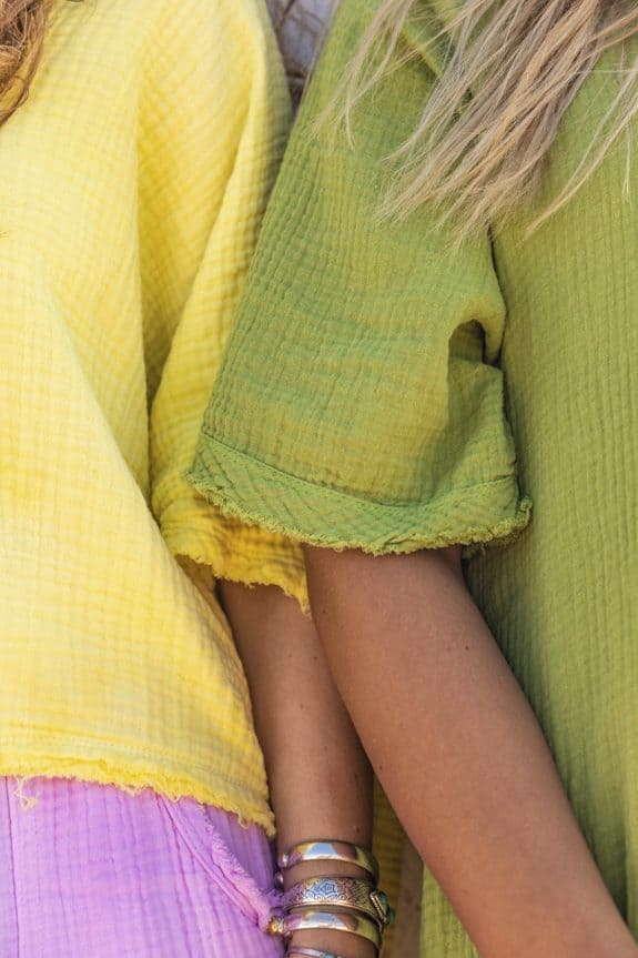 Sea Me Happy Fiji Dress olive green, sleeves with raffles