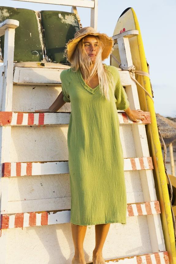 Sea Me Happy Fiji Dress olive green