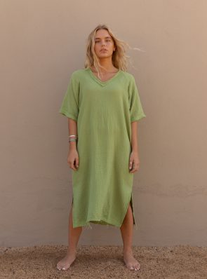 Sea Me Happy Fiji Dress olive green