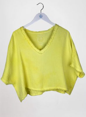 Sea Me Happy Fuji Top yellow. Made in Belgium