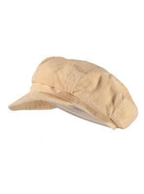 Sea Me Happy Baker Boy hat, sand, beige