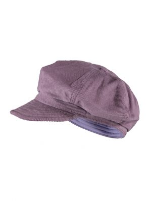 Sea Me Happy Baker Boy hat, purple, 100% cotton, thin corduroy