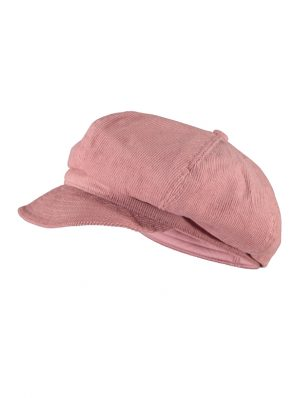 Sea Me Happy Baker Boy hat, old rose, 100% cotton, thin corduroy