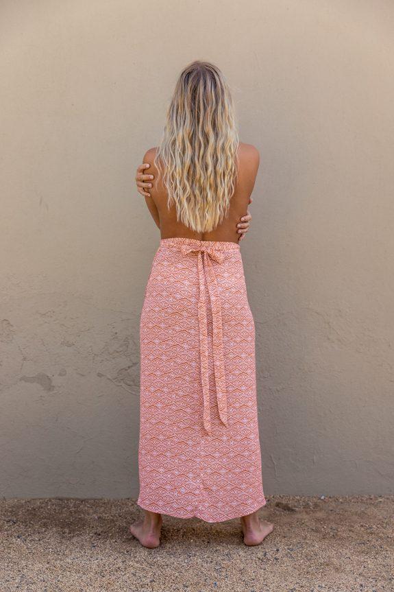 Sea Me Happy Noosa wrap skirt ethnic, back