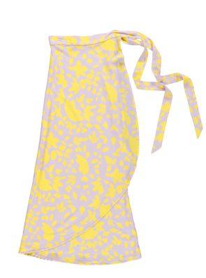 Sea Me Happy Noosa wrap skirt yellow-purple