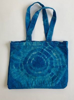 Sea Me Happy beach bag or shopping bag blue