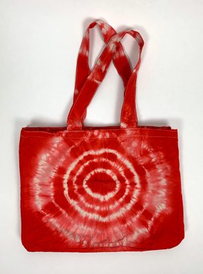 Sea Me Happy beach bag or shopping bag red