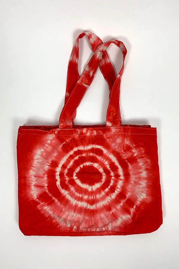 Sea Me Happy beach bag or shopping bag red