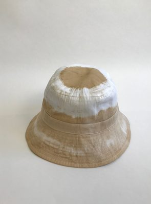 Sea Me Happy tie-dye Bucket Hat, sand, great with your festival outfit for an immediate holiday feeling