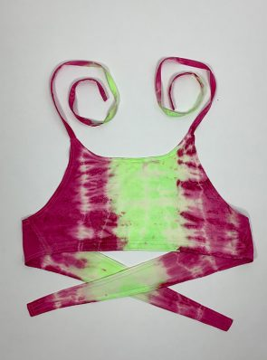 Sea Me Happy Crop Top 10 pink-green