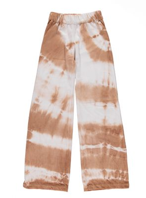 Sea Me Happy Aloha pants sandy white tie-dye in velours, soft and comfy