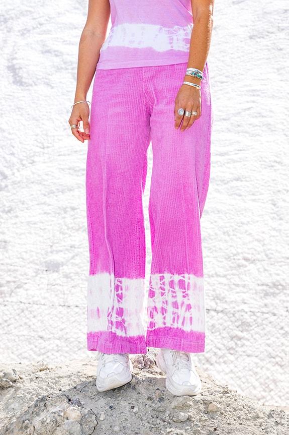 Sea Me Happy wide corduroy handyed gypsy pants