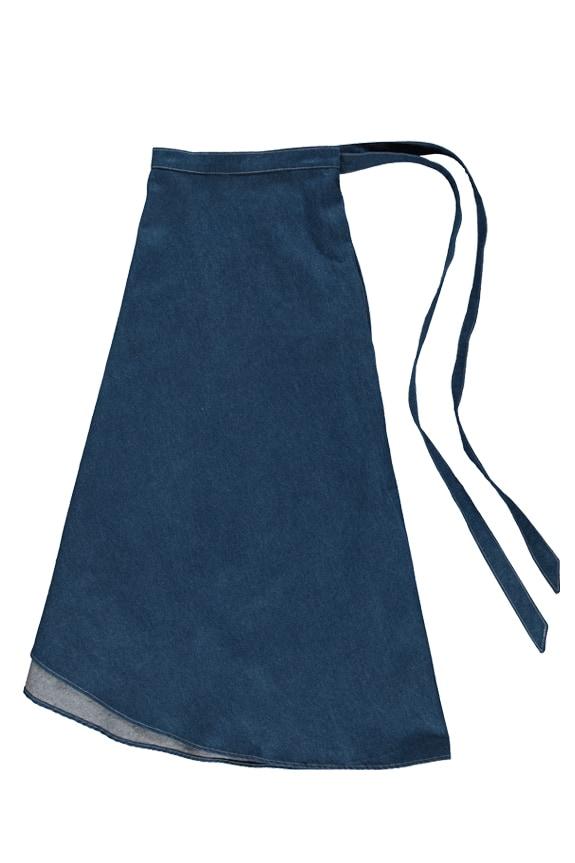 Sea Me Happy wrapskirt jeans dark blue