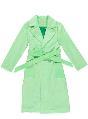 Corduroy long coat fluo green by Sea Me Happy