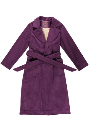 Corduroy long coat groovy purple by Sea Me Happy